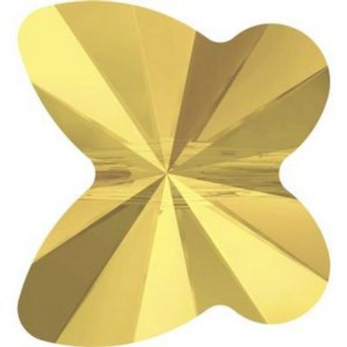 Swarovski 5754 8mm Butterfly Beads Crystal Metallic Sunshine