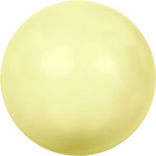 Swarovski 5810 12mm Round Pearls Pastel Yellow Pearl