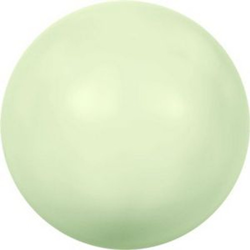 Swarovski 5817 10mm Half-Dome Pearls Pastel Green Pearl