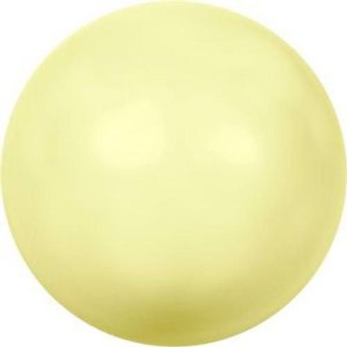 Swarovski 5817 10mm Half-Dome Pearls Pastel Yellow Pearl