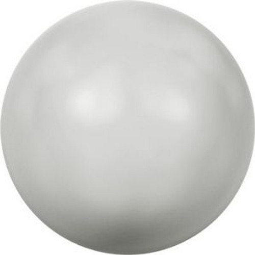 Swarovski 5818 4mm Half-Drilled Pearls Pastel Grey Pearl