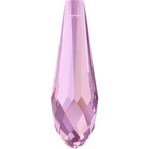 Swarovski 6530 30mm Pure Drop (half hole) Pendants Crystal Lilac Shadow