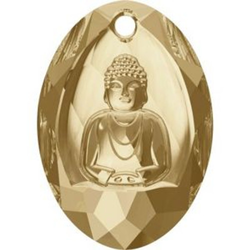 Swarovski 6871 28mm Buddha Pendants Crystal Golden Shadow