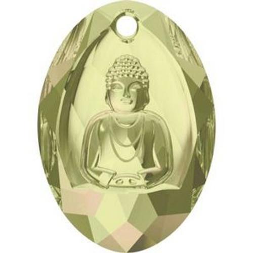 Swarovski 6871 28mm Buddha Pendants Crystal Luminous Green