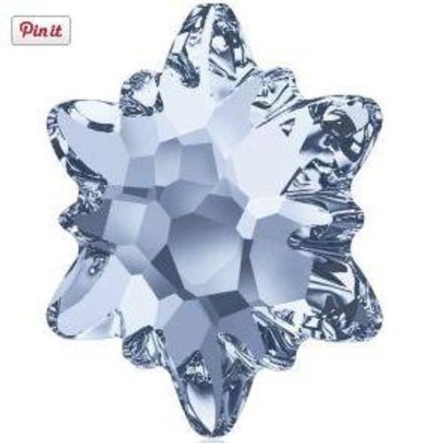 Swarovski 2753 10mm Edelweiss Flatbacks Crystal Blue Shade Hot Fix