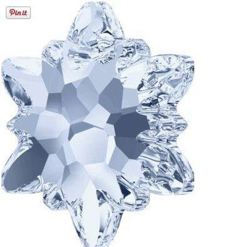 Swarovski 6748 18mm Edelweiss Pendants Crystal Blue Shade Frosted