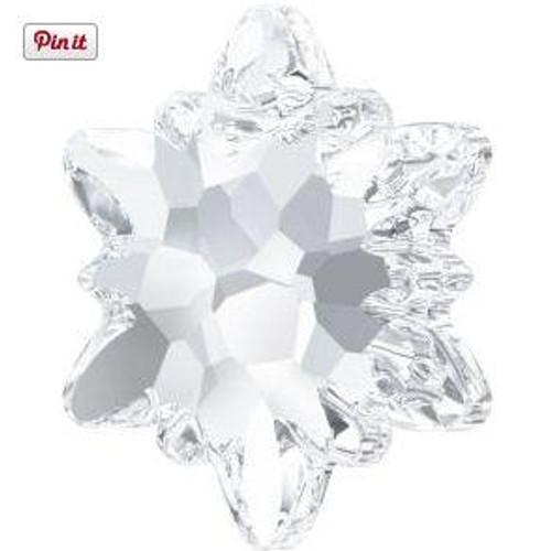 Swarovski 6748 18mm Edelweiss Pendants Crystal Frosted