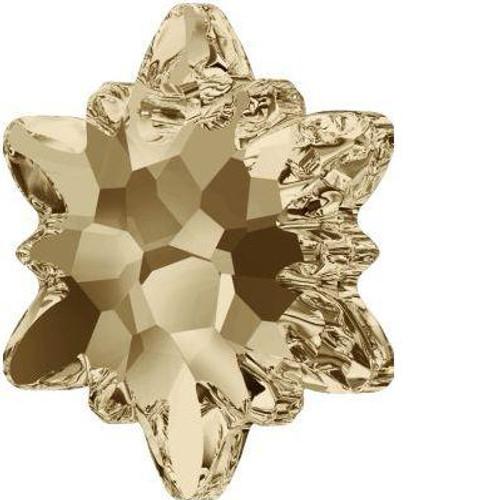 Swarovski 6748 28mm Edelweiss Pendants Crystal Golden Shadow Frosted