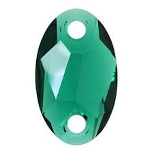 Swarovski 3231 28mm Oval Sew On x17 Emerald