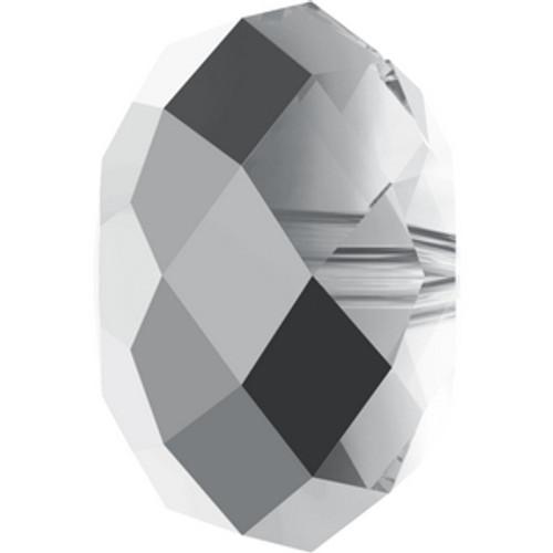 Swarovski 5040 12mm Rondelle Beads Crystal Light Chrome