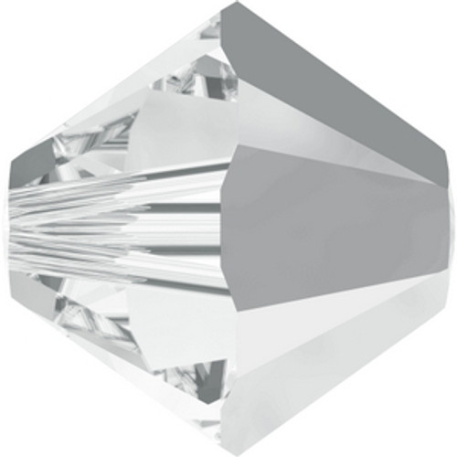 Swarovski 5328 4mm Xilion Bicone Beads Crystal Light Chrome
