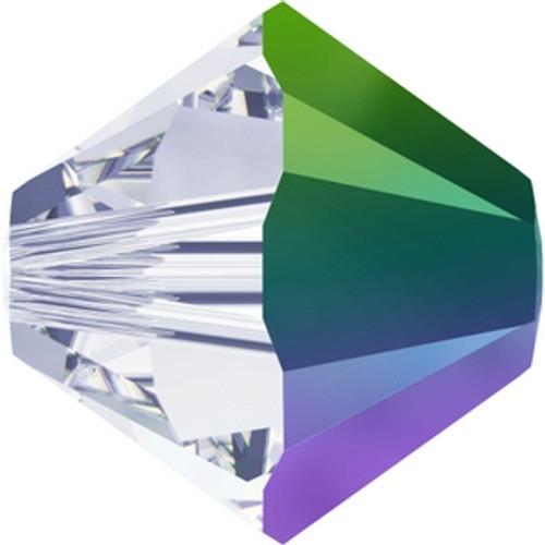 Swarovski 5328 4mm Xilion Bicone Beads Crystal Scarabaeus Green