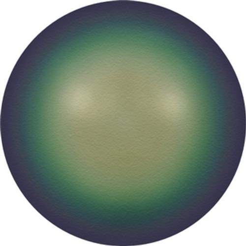 Swarovski 5810 12mm Round Pearls Crystal Scarabaeus Green Pearl