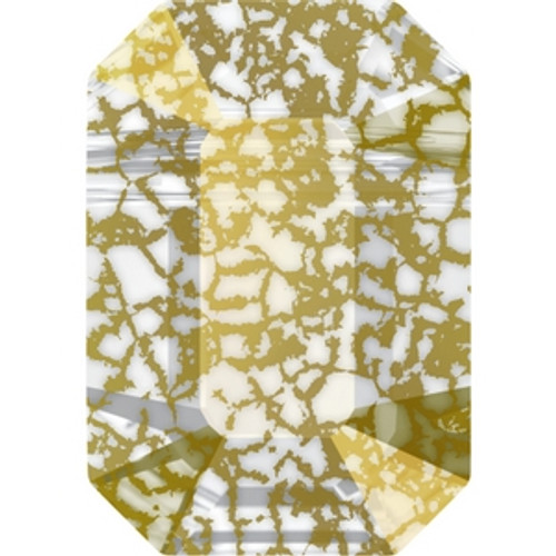 Swarovski 5514 8mm Pendulum Beads Crystal Gold Patina