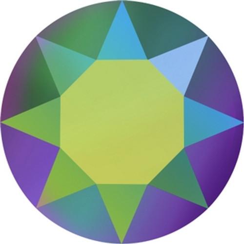Swarovski 1088 14pp Xirius Round Stones Crystal Scarabaeus Green