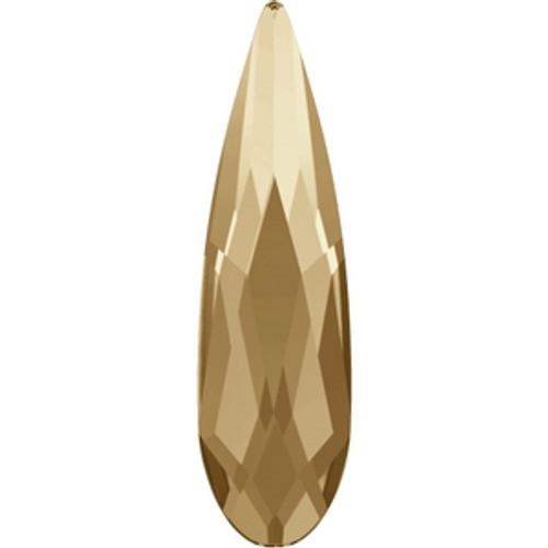 Swarovski 2304 10mm Raindrop Flatback Crystal Golden Shadow Hot Fix