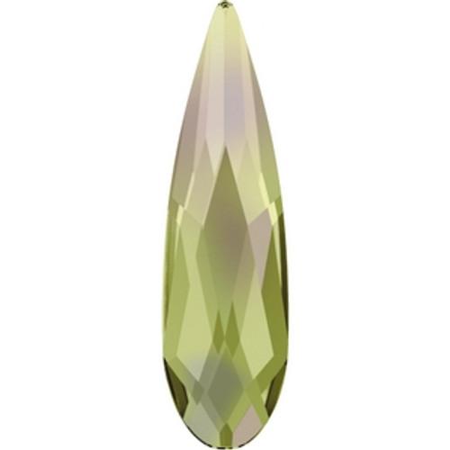 Swarovski 2304 10mm Raindrop Flatback Crystal Luminous Green Hot Fix