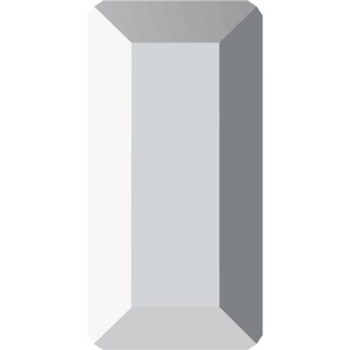 Swarovski 2510 5mm Baguette Flatback Crystal Light Chrome Hot Fix