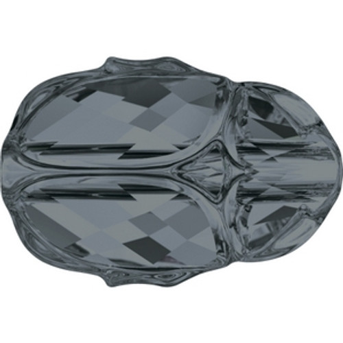 Swarovski 5728 12mm Crystal Silver Night Scarab Beads . Crystal Silver Night is a sophisticated, almost translucent silver finish with lighter and darker grayish tones together, it marries perfectly with Black Diamond and Jet to create a modern, monochromatic color combination. . Swarovski Crystal is the finest quality precision-cut crystal in the world. Fashionable and sophisticated styles are infused with rich colors and lavish coatings. SWAROVSKI ELEMENTS are essential in creating captivating jewelry designs of exceptional radiance and quality.