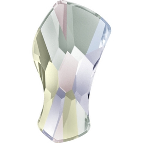Swarovski 2798 10mm Crystal AB Hot Fix Contour Flatback . Crystal is the April birthstone color representing a clear diamond and the AB coating, which stands for Aurora Borealis, adds a highly iridescent effect over half of the crystal that increases the brilliance and shine with shimmering tints of yellow, pink and blue sparkle.   . Swarovski Crystal is the finest quality precision-cut crystal in the world. Fashionable and sophisticated styles are infused with rich colors and lavish coatings. SWAROVSKI ELEMENTS are essential in creating captivating jewelry designs of exceptional radiance and quality.