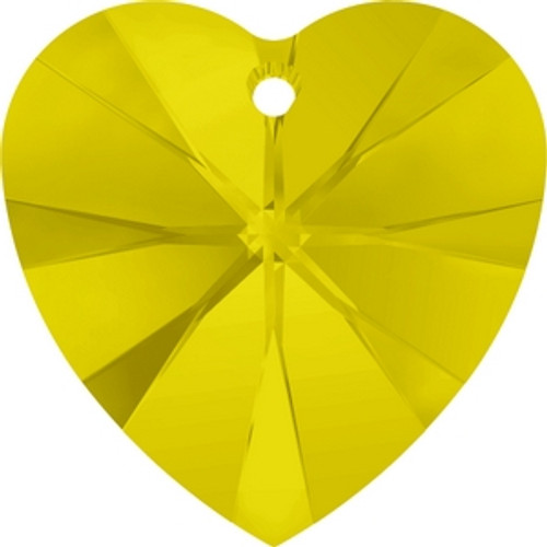 Swarovski 6228 10mm Yellow Opal Xilion Heart Pendants . Yellow Opal  is  bright, happy yellow shade with an opalescent finish, , made with ADVANCED CRYSTAL, is a new first in the Swarovski color assortment. It is both fiery and elegantly matte, combining the power of color with genuine gemstone appeal. The inspiration behind Yellow Opal lies in the natural gemstone Citrine  . Swarovski Crystal is the finest quality precision-cut crystal in the world. Fashionable and sophisticated styles are infused with rich colors and lavish coatings. SWAROVSKI ELEMENTS are essential in creating captivating jewelry designs of exceptional radiance and quality.