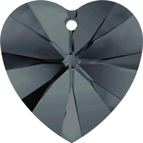 Swarovski 6228 18mm Xilion Heart Pendants Graphite (72 pieces )