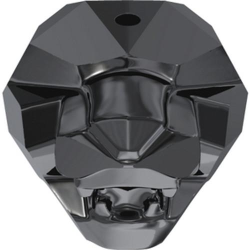 Swarovski 5751 19mm Panther Beads Crystal Silver Night 2X (1 piece)