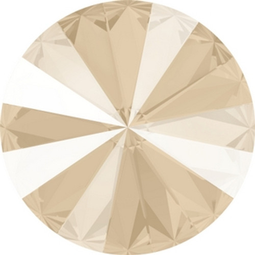 Swarovski 1122 14mm Crystal Ivory Cream Lacquer Xilion Round Stones