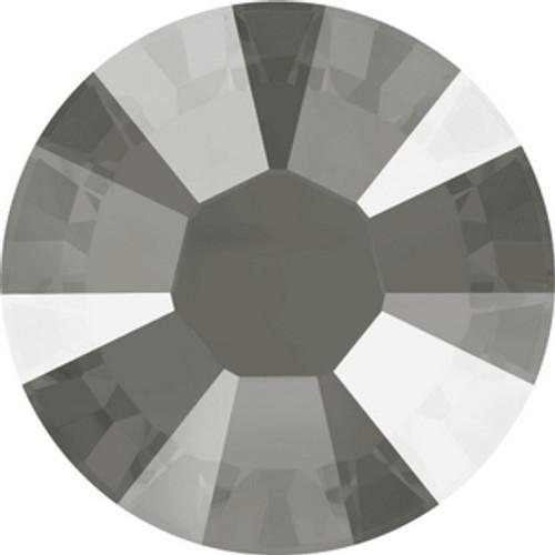 Swarovski 2038 10ss Crystal Dark Grey Lacquer Hot Fix Xilion Flatbacks
