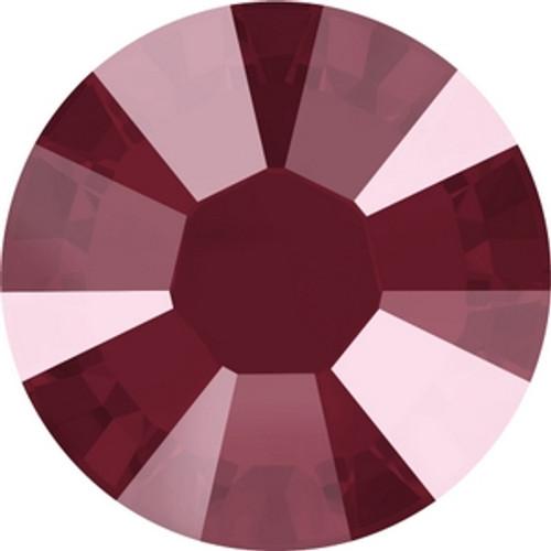 Swarovski 2038 10ss Crystal Dark Red Lacquer Hot Fix Xilion Flatbacks