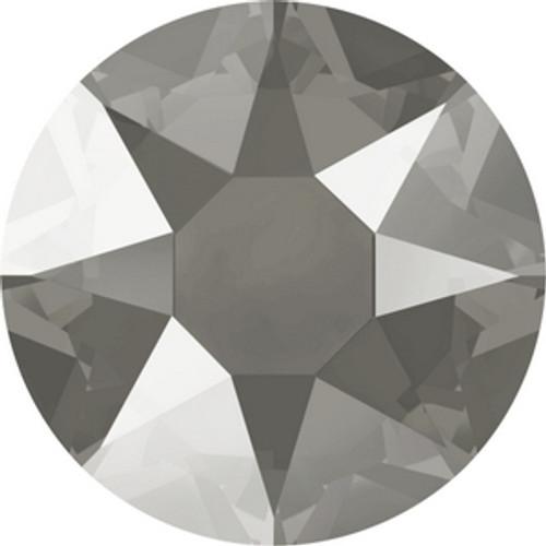 Swarovski 2078 16ss Crystal Dark Grey Lacquer Hot Fix Xirius Flatbacks