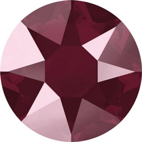 Swarovski 2078 16ss Crystal Dark Red Lacquer Hot Fix Xirius Flatbacks