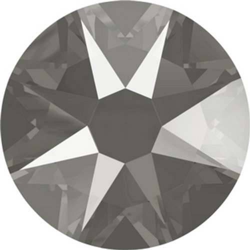 Swarovski 2088 12ss Crystal Dark Grey Lacquer Xirius Flatbacks
