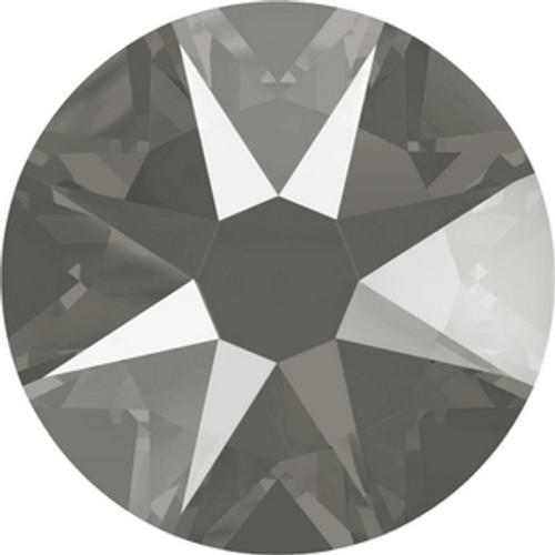 Swarovski 2088 16ss Crystal Dark Grey Lacquer Xirius Flatbacks