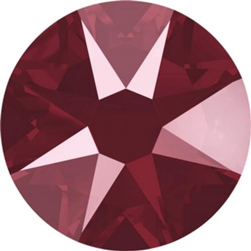 Swarovski 2088 16ss Crystal Dark Red Lacquer Xirius Flatbacks