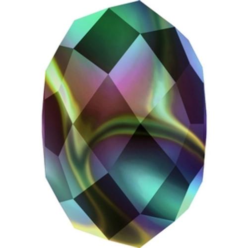 Swarovski 5040 8mm Crystal Rainbow Dark 2X Rondelle Beads