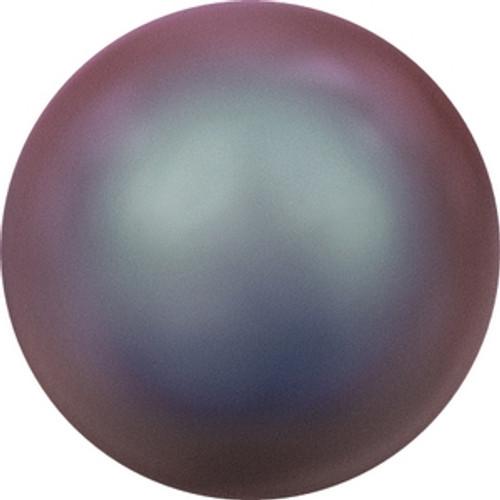 Swarovski 5818 8mm Crystal Iridescent Red Pearl Half-Drilled Pearls
