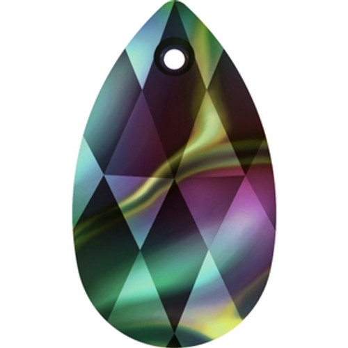 Swarovski 6106 22mm Crystal Rainbow Dark Pearshape Pendants