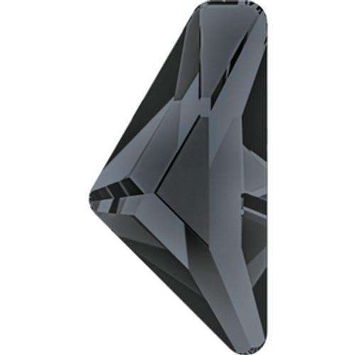 Swarovski 2738 10mm Crystal Dark Grey Lacquer Triangle Alpha Flatbacks