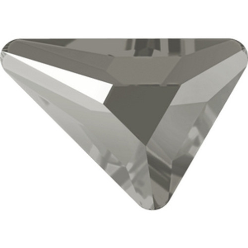 Swarovski 2739 6mm Crystal Dark Grey Lacquer Triangle Beta Flatbacks