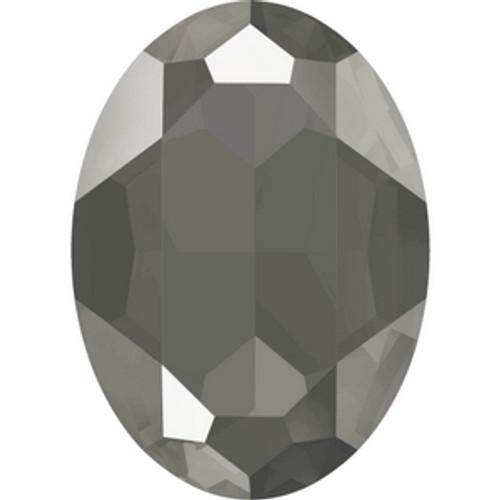 Swarovski 4127 30mm Crystal Dark Grey Lacquer Oval Fancy Stones