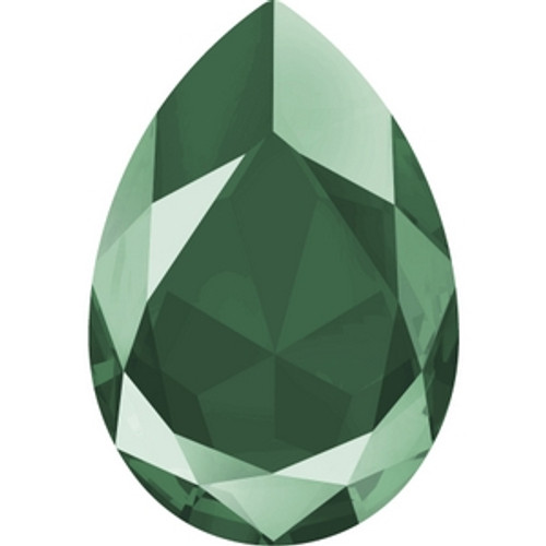 Swarovski 4327 30mm Crystal Royal Green Lacquer Pearshape Fancy Stones