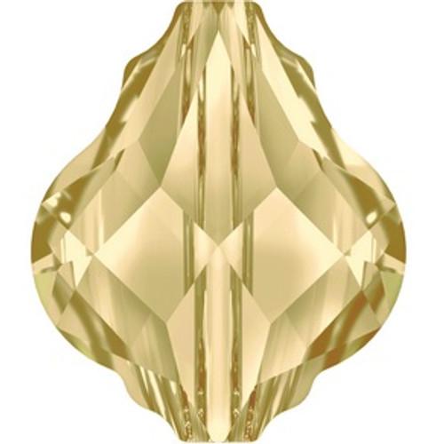 Swarovski style # 5058 Baroque Bead Crystal Golden Shadow