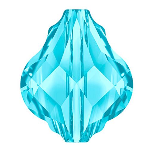 Swarovski style # 5058 Baroque Bead Aquamarine