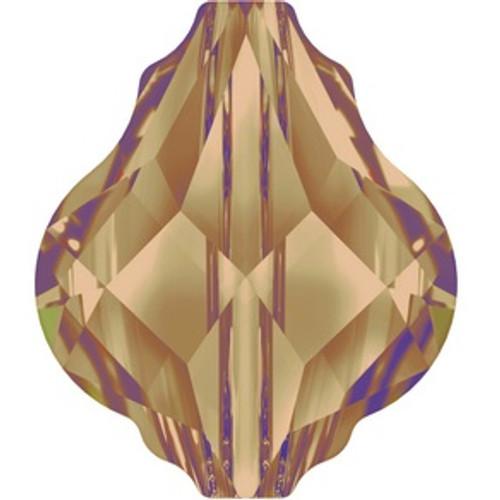 Swarovski style # 5058 Baroque Bead Light Smoked Topaz
