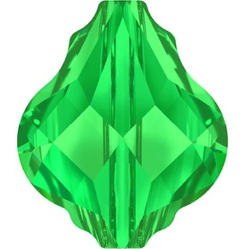 Swarovski style # 5058 Baroque Bead Emerald