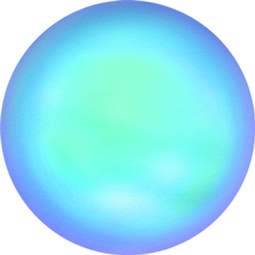 Swarovski style # 5860 Crystal Coin Pearl Crystal Iridescent Light Blue Pearl
