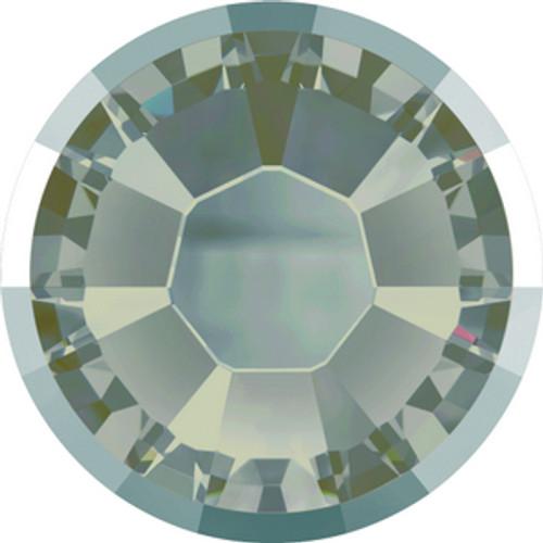 Swarovski style # 2078-I Rimmed Xirius Flatbacks Crystal Silver Night Hot Fix GM