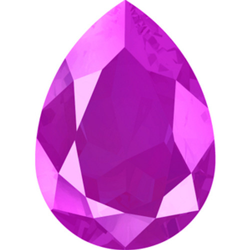 Swarovski style # 4320 Pearshape Fancy Stones Crystal Peony Pink