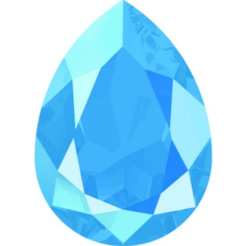 Swarovski style # 4320 Pearshape Fancy Stones Crystal Summer Blue